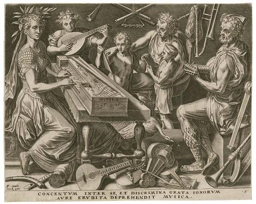 Musica -- Concentum inter se - Cornelis Cort 1565 (Cock, Floris) (Folger)