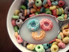 59/365 {explored} (lauren welter) Tags: color milk cereal spoon loops froot ihaventdonetagsinalonglongtimehaha