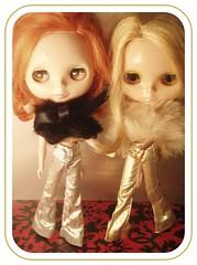 Party Girls.. (rlkataja (Robin Blair)) Tags: cloud holiday love its true silver gold pants you 9 bowl trousers blythe ilyit rlkataja cb9