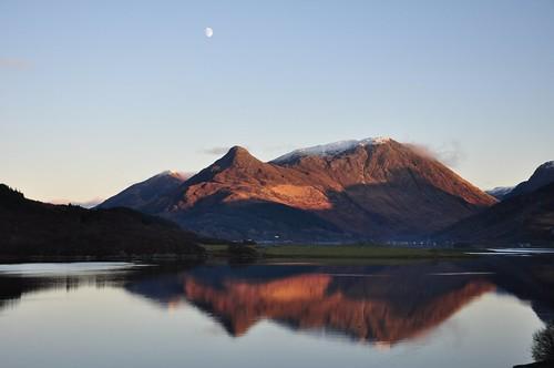 The Pap of Glecoe across Loch Levan