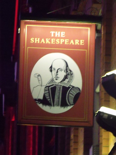 The Shakespeare, Summer Row, Birmingham - pub sign