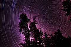 Startrails [54min Exposure] (g_e_r_r_y) Tags: longexposure bulb stars skies space noflash astrophotography nightsky wintersky startrails creativephotography the4elements colorphotoaward nikond90 sudburyontariocanada sigma1850mmf28exmacrohsm alemdagqualityonlyclub