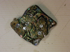 Paua shell & CZ
