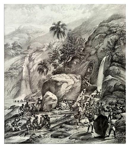 019- Lavado de mineral de oro en la montaña itacolume- Rugendas,Johann Moritz- Viagem pitoresca através do Brasil 1835
