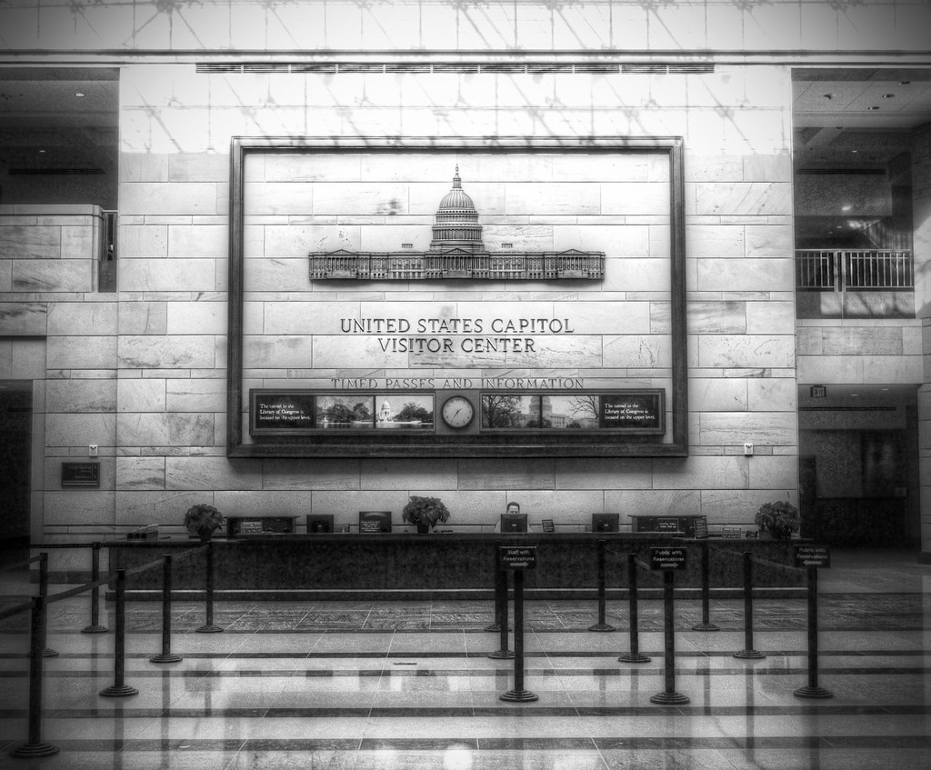 You can't take pictures in the Exhibition Hall of the Capitol Visitor Center