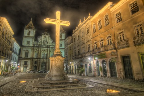 Cross in Pelourinho Square