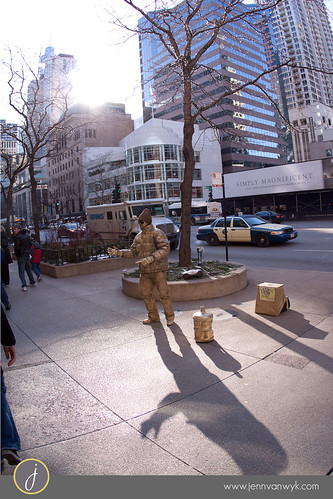 Street Performer in Chicago