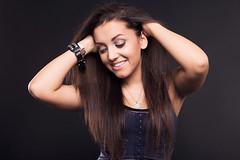 Melanie (Anett Budai) Tags: portrait woman girl beauty smile face female canon hair melanie 40d luxtop100