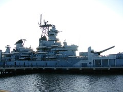 Mid section of Battleship New Jersey