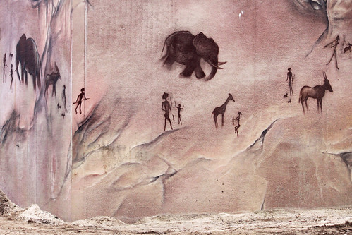 Wall painting in elephants place...