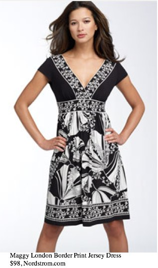 Maggy London Border Print Matte Jersey Dress - - Nordstrom