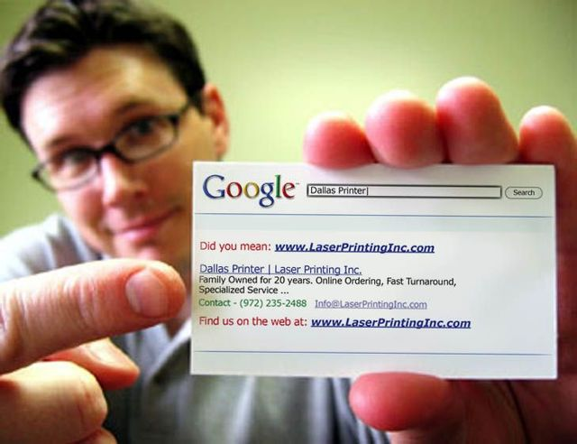 Business cards as a Google Search
