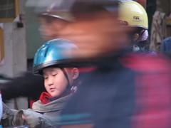 Hanoi - Rush Hour Kid (Graham472) Tags: vietnam rushhour hanoi canons2is