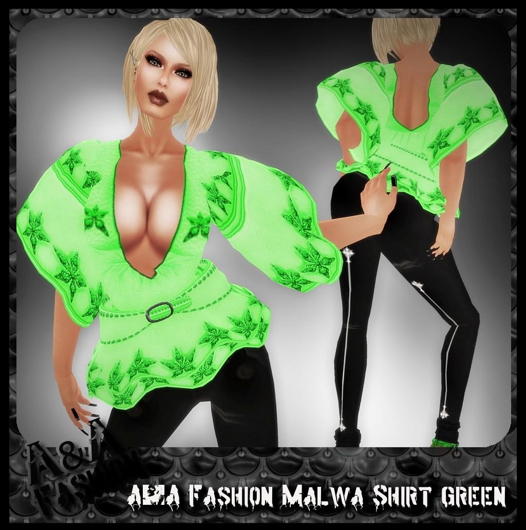 A&A Fashion Malwa Shirt Green
