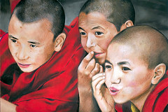 Playful Young Monks (Atish Banerjee) Tags: curious teasing youngmonks playfulboys ladakhiboys
