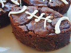 ina garten - outrageous brownies - football shaped (super bowl) - 28