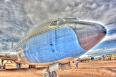 It's only HDR but I like it (kevin dooley) Tags: blue arizona cloud white color field closeup museum canon airplane outside nose big colorful angle tucson cloudy outdoor air grunge mary wide az front pima huge 24mm upclose hdr highdynamicrange grungy airfield pimaairmuseum photomatix cloudage 40d cloudshot cloudware