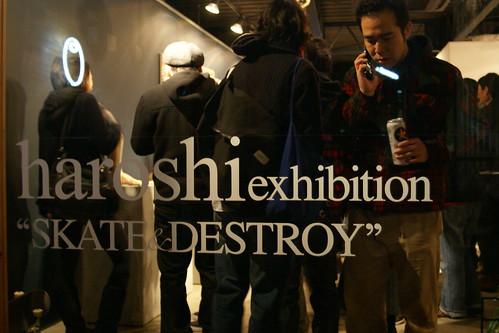 "haroshi exhibition""SKATE&DESTROY"""