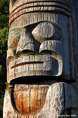 Totem Pole in Vanier Park N1464e (Harris Hui (in search of light)) Tags: park wood sculpture brown canada color art monument vancouver bigeyes eyes ancient bc native sunday sunny totem carving richmond cedar totempole aboriginal firstnation amateur woodcarving sunnyday aboriginalart nativeart woodensculpture sidelighting walkinthepark ancientart vanierpark sunnyafternoon beautifulbc localpark beautifulart woodenart sigma1770mm nikond300 beautifulvancouver sundaypictures publicartdisplay bcbeautiful harrishui vancouverdslrshooter weekednpictures vancovuerbeautiful