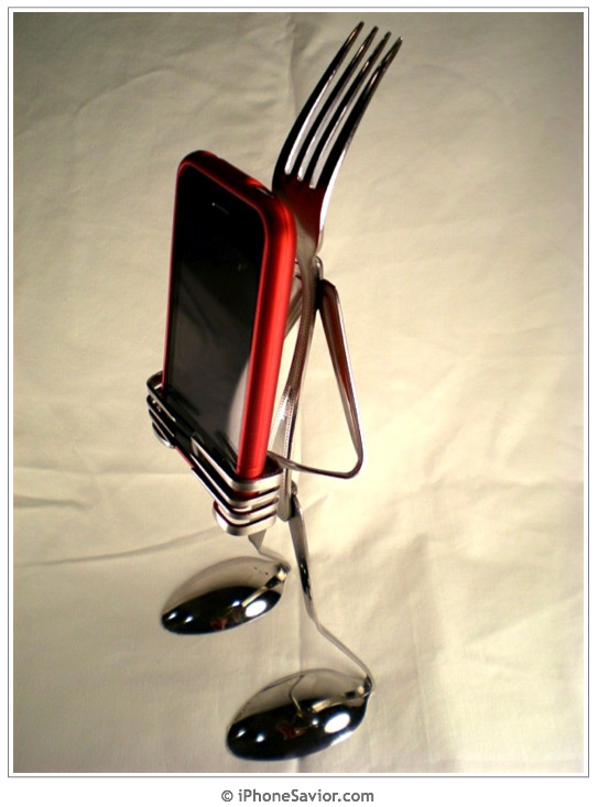 Fork Head iPhone Stand