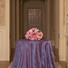 Pintuck antique violet tablecloth