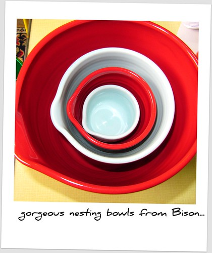 Nesting bowls from Bison ceramics