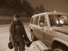 Snowing ( island girl ) Tags: ocean winter white snow cold ice rose alaska island pacific north ak snowing blizzard kodiak