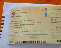 Serj concert ticket