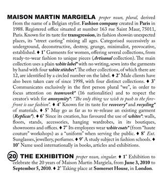 Poster Martin Margiela Ausstellung Somerset House