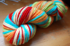 Self-Striped Yarn Dyeing!