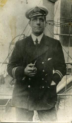 Alex Gibson, engineer, Merchant Navy, 1916.
