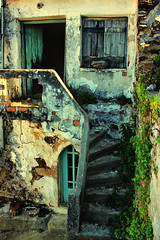 Memories... (Theophilos) Tags: door wood old house window stone stairs ruin greece crete  rethymno     harkia
