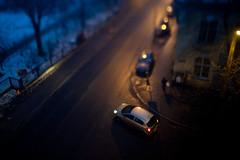 IMG_8025 (Sakuto) Tags: street night 28mm poland 28 tilt poznan porst homemadetilt