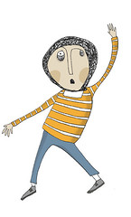 temblor o terremoto (Paulina Reyes Castro) Tags: illustration drawing illustrations draw dibujos dibujo hombre tinta ilustracin ilustraciones dibujar lneas dibujando trazo