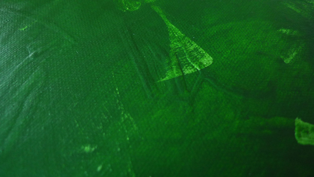 green abstract painting texture detail