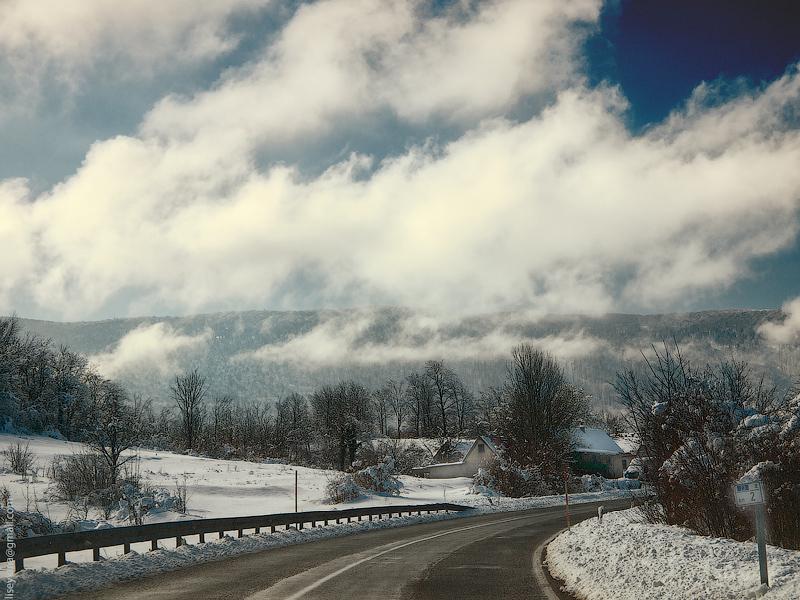 Mountain road. Croatia