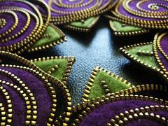 Felt zipper roses (woolly  fabulous) Tags: roses wool pin purple recycled brooch award felt zipper ecofriendly