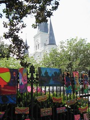 New Orleans' Jackson Square and the cathedral (c2010 FK Benfield)