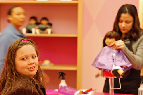 Anna at American Girl salon