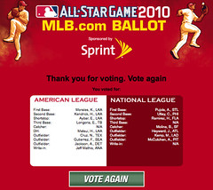 All Star First Vote 2010