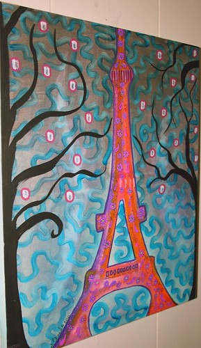"Paris Canvas 18"" x 28"" by Rick Cheadle Art and Designs"