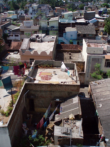 City roofs, India