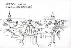 Cottbus, vue de la Spremberger Turm (gerard michel) Tags: germany deutschland sketch allemagne cottbus croquis