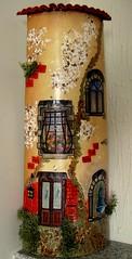 My latest hand painted shingle (Oh!.. So cute!) Tags: ceramica ceramic shingle tiles handpainted telhas
