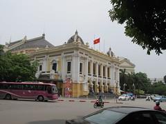 Hanoi Opera House (Mikhail Z) Tags: street red house nikon opera asia flag vietnam nikkor hanoi d5100