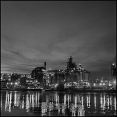 Whiskey City (argentography) Tags: distillery peoria rolleiflex k4a noir river film