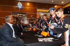 "Missouri Mavericks vs. Quad City Mallards, February 18, 2017, Silverstein Eye Centers Arena, Independence, Missouri.  Photo: John Howe / Howe Creative Photography • <a style=""font-size:0.8em;"" href=""http://www.flickr.com/photos/134016632@N02/32880625752/"" target=""_blank"">View on Flickr</a>"
