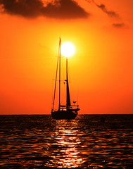 Sail Boat Anchored at Sunset (S@ilor) Tags: sunset espaa costa sun beach sailboat spain mediterranean playa granada tropical costadelsol andalusia andalusien almucar anchored laheradura costatropical southofspain silor luckyorgood anchoredatsunset sailboatanchoredatsunset fotoclubalmucar