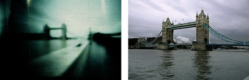 Tower Bridge - Pinhole Vs Digital