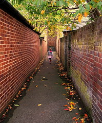 Autumn Alley Walk (Aylesbury_Mark) Tags: autumn fall canon walking alley walk bricks tunnel powershot alleyway tring a650 a650is